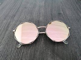 Ohne Gafas de sol cuadradas color rosa dorado