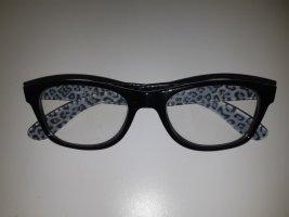 Brille mit Fensterglas Leopardendesign