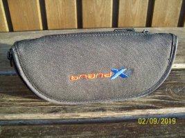 """Brillen-Etui neu """"brand X"""" in schwarz mit Gürtelschlaufe"""
