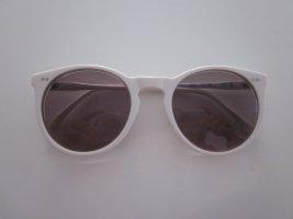 Ronde zonnebril wit kunststof