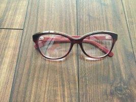 Gafas carmín-rojo oscuro