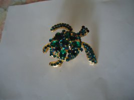 Broche Schildkröte grün
