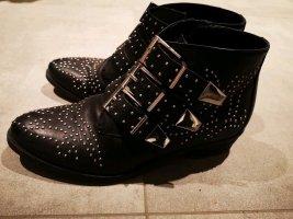 Bronx Ankle Boots Stiefeletten Leder Nieten neuwertig 37