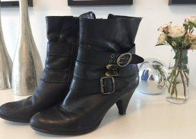 ⭐️ BRONX Damen Leder Stiefeletten / Gr. 40 / schwarz