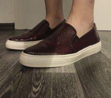 Bronx Zapatos formales sin cordones burdeos Cuero
