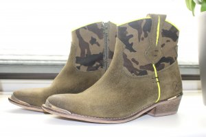Bronx Western Booties multicolored leather