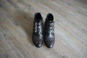 Bronx Susanna Boots Stiefeletten schwarz silberne Nieten Gr. 39