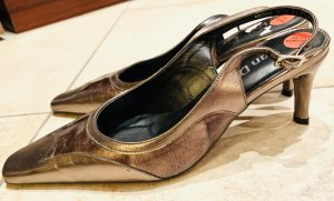 Van dal Strapped pumps bronze-colored-brown leather