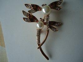 Brosche 2 Libellen Perle