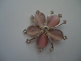 Brosche Blüte rosa