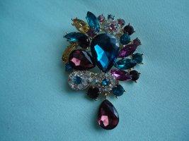 Spilla blu-magenta