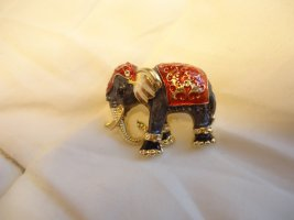 Brosche Elefant rot