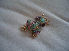 Brosche Frosch bunt