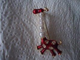 Brosche Giraffe Perlen
