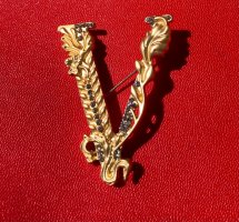 Brooch gold-colored metal