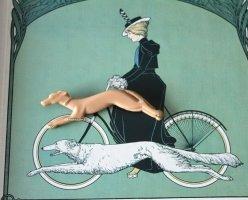 Brosche Greyhound Windhund true Vintage Hund