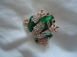 Brosche grüner Frosch