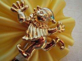 Brosche, klein, Modeschmuck, in gold