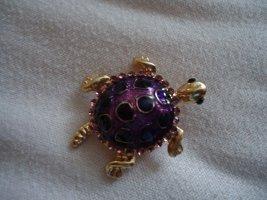 Brosche kleine lila Schildkröte