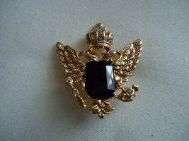Brooch silver-colored-black