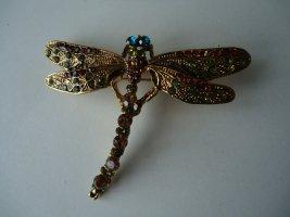 Brosche Libelle bunt