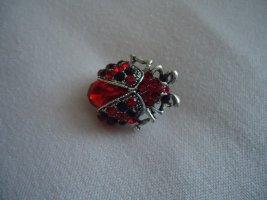 Brosche Marienkäfer rot