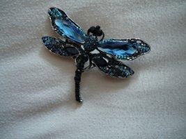 Brosche Modeschmuck Libelle blau