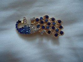 Broche bleu
