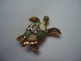 Brosche Schildkröte grün