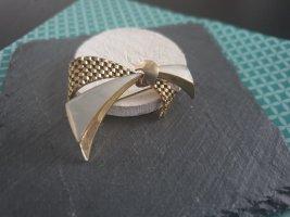 Broche zilver-licht beige
