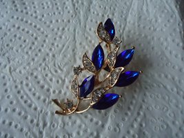 Brosche silber Blume