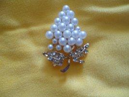 Brosche Strauß Perlen