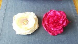 Spilla rosa chiaro-rosso lampone Tessuto misto