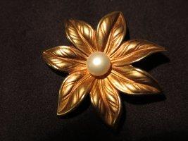 Brosche vergoldet mit perle
