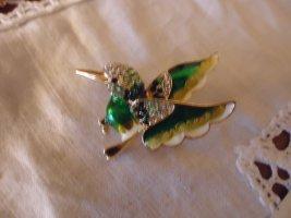 Brosche Vogel grün Modeschmuck