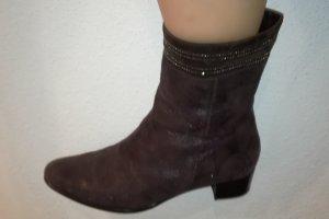 Brunella Zipper Booties dark brown