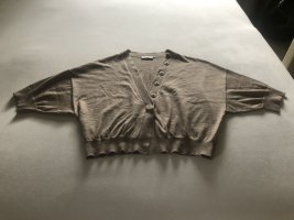 Brunello Cucinelli Short Sleeve Knitted Jacket grey brown