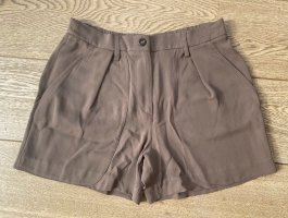 Brunello Cucinelli Hot Pants light brown silk