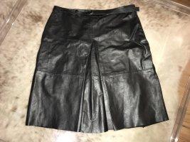 Bruuns bazaar Jupe en cuir noir cuir