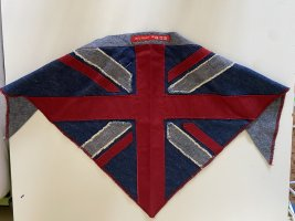BSB Collection Neckerchief neon red-blue cotton