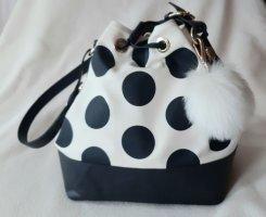 Pouch Bag white-dark blue