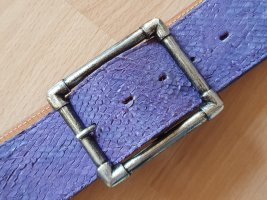 Buckles & Belts Leather Belt silver-colored-purple