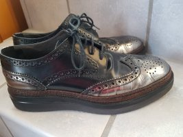 Wingtip Shoes black-silver-colored