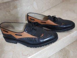 Budapest schoenen zwart-oker