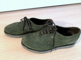 Bogner Wingtip Shoes olive green