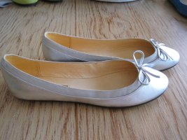 Buffalo London Slingback Ballerinas silver-colored leather