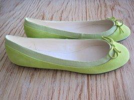 Buffalo London Slingback Ballerinas pale green
