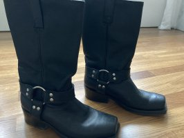 Buffalo Biker Boots black leather