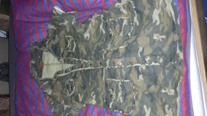 Buffalo Camouflage Weste Jacke coole Gr 40 top Hippie Ibiza