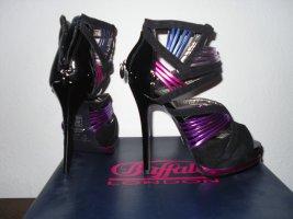 Buffalo Highheels schwarz/lila/pink/blau